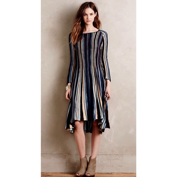 c07318037d9ed Anthropologie Dresses & Skirts - Anthropologie Moth Nora Knit Swing Dress  Stripe